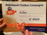 Cheque Rabobank Clubkas Campagne